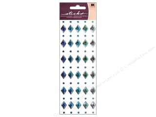 EK Sticko Stickers Sparkler Blue Diamonds