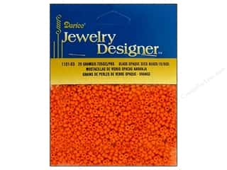 Darice Beads Jewelry Designer Seed 10/0 Opaque Orange