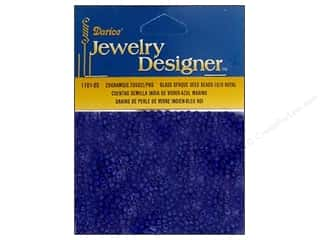 Floral & Garden Beading & Jewelry Making Supplies: Darice Beads Jewelry Designer Seed 10/0 Opaque Royal