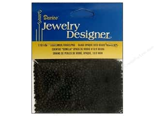 Finishes Beading & Jewelry Making Supplies: Darice Beads Jewelry Designer Seed 10/0 Opaque Black