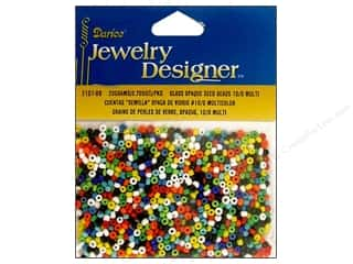 Beading & Jewelry Making Supplies Clearance: Darice Beads Jewelry Designer Seed 10/0 Opaque Multi