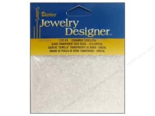 Halloween Beading & Jewelry Making Supplies: Darice Beads Jewelry Designer Seed 10/0 Transparent Crystal