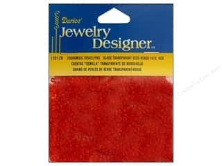 Designer Sale: Darice Bead JD Seed 10/0 Trans Red