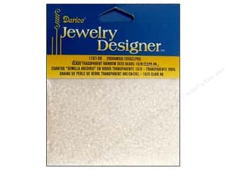 Foam Beading & Jewelry Making Supplies: Darice Beads Jewelry Designer Seed 10/0 Transparent Clear AB