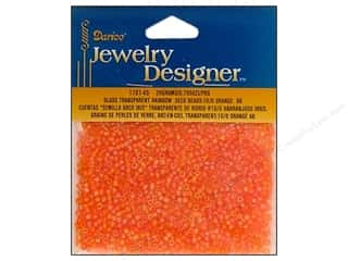 Family Beading & Jewelry Making Supplies: Darice Beads Jewelry Designer Seed 10/0 Transparent Orange AB