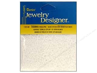 Beading & Jewelry Making Supplies Black: Darice Beads Jewelry Designer Seed 10/0 Ceylon White Pearl