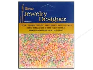 Beading & Jewelry Making Supplies Black: Darice Beads Jewelry Designer Seed 10/0 Ceylon Multi
