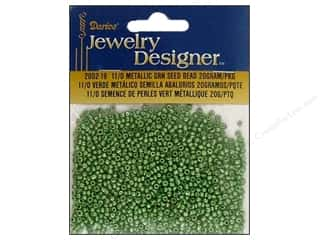 Darice Beads Jewelry Designer Seed 11/0 Metallic Green