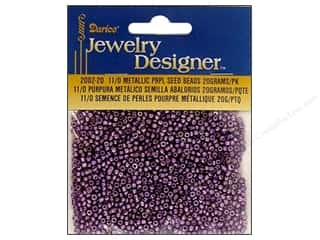 Elastic Beading & Jewelry Making Supplies: Darice Beads Jewelry Designer Seed 11/0 Metallic Purple