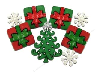 Jesse James Buttons Scrapbooking: Jesse James Dress It Up Embellishments Christmas Collection A Whimsical Christmas