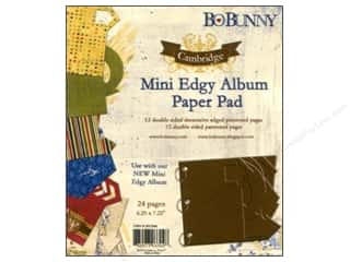 Clearance Bo Bunny Mini Albums: Bo Bunny Mini Edgy Album Paper Pad Cambridge