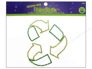 Dritz Iron On Rhinestuds Medium Recycle Heart