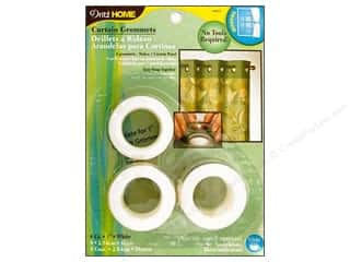 plastic curtain grommets: Dritz Home Curtain Grommets Medium 1 in.  White  8pc