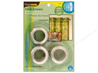 "1"" curtain grommets: Dritz Home Curtain Grommets 1 in. Round Brushed Silver 8pc"