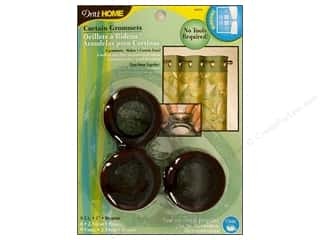 plastic curtain grommets: Dritz Home Curtain Grommets Medium 1 in. Bronze  8pc