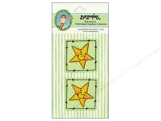 Bazooples Iron-On Appliques Large Smiley Star