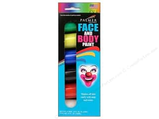 Kid Crafts Black: Palmer Face Paint Set 3/4oz Jar 6pc