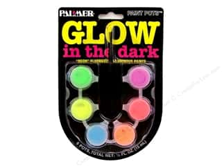 acrylic paint: Glow in the Dark Acrylic Paint Set 6 Pot Mini