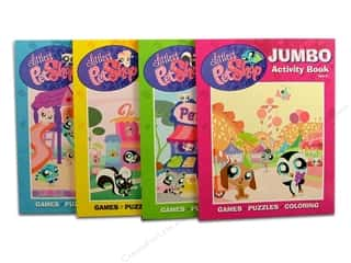 Activity Books / Puzzle Books: Jumbo Coloring & Activity Pet Shop Astd Book
