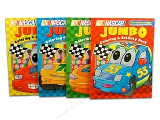 Jumbo Coloring & Activity Nascar Kids Astd Book