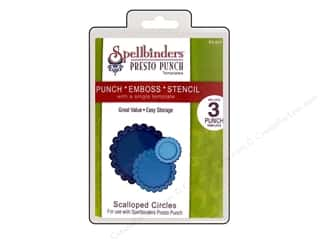 Spellbinders Presto Punch Template Circle Scalloped