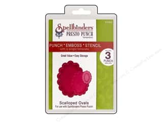 Spellbinders Presto Punch Template Oval Scalloped