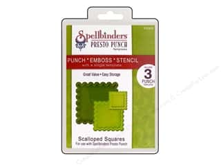 Spellbinders Presto Punch Template Square Scallopd