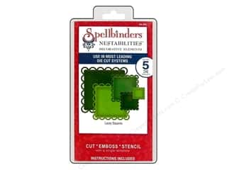 Spellbinders Shape Templates: Spellbinders Nestabilities Decorative Elements Die Lacey Squares