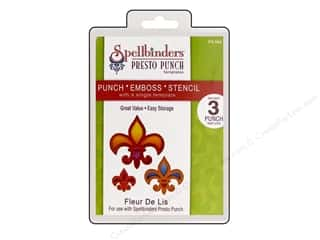 Spellbinders Presto Punch Template Fleur De Lis