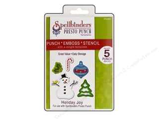 Spellbinders Presto Punch Template Holiday Joy