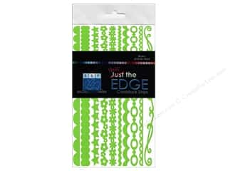 Clearance Bazzill Cardstock Just the Edge: Bazzill Half the Edge Cardstock 6 in. Intense Kiwi 20 pc.