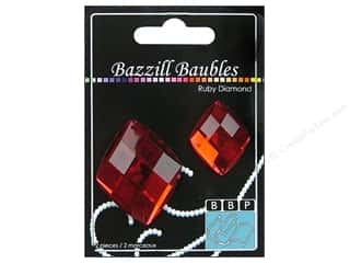 Bazzill Baubles Diamond Ruby 2pc