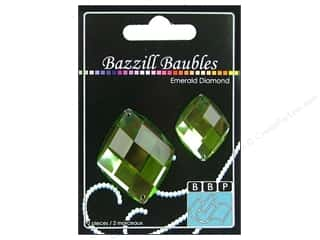 Bazzill Baubles Diamond Emerald 2pc
