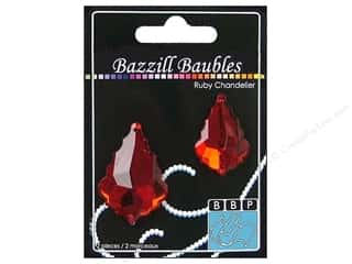 Bazzill Baubles Chandelier Ruby 2pc