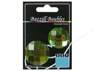 Bazzill Baubles Circle Emerald 2pc