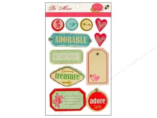 DieCuts Sticker Pop Up Felt Be Mine Glitter