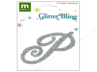 stickers  glitter: Making Memories Stickers Bling Monogram Script P