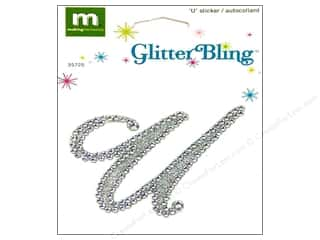 stickers  glitter: Making Memories Stickers Bling Monogram Script U