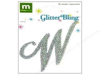 stickers  glitter: Making Memories Stickers Bling Monogram Script W