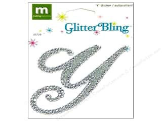 stickers  glitter: Making Memories Stickers Bling Monogram Script Y