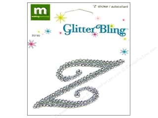 stickers  glitter: Making Memories Stickers Bling Monogram Script Z