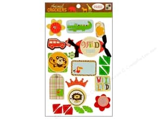 DieCuts Sticker Pop Up Felt Animal Cracker Glitter