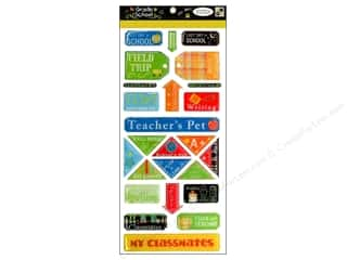 DieCuts Sticker Epoxy Shapes Grade School