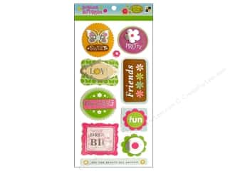 DieCuts Sticker Pop Up Blossoms Words Glitter