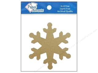 Paper Accents Chip Shape Snowflake Natural 8pc