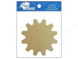 Eco Friendly /Green Products Paper Accents Chipboard Shapes: Paper Accents Chipboard Shape Sprocket 8 pc. Kraft