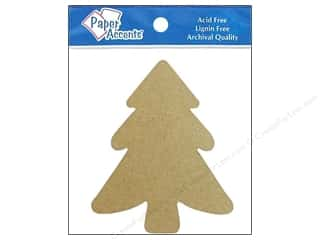 Christmas Brown: Paper Accents Chipboard Shape Tree 8 pc. Kraft