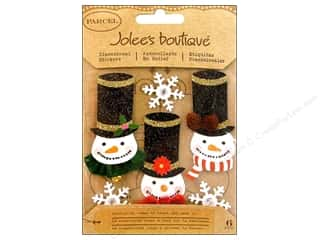 Glitter Christmas: Jolee's Boutique Stickers Glittered Snowmen