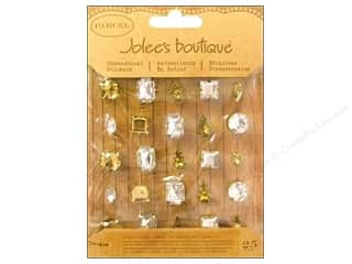 Jolee&#39;s Boutique Stickers Vintage Gems Gold Silver