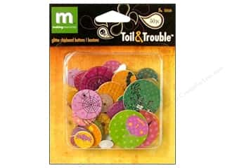 Sequins Making Memories Embellishments: Making Memories Chipboard Shape Buttons Glitter Toil & Trouble